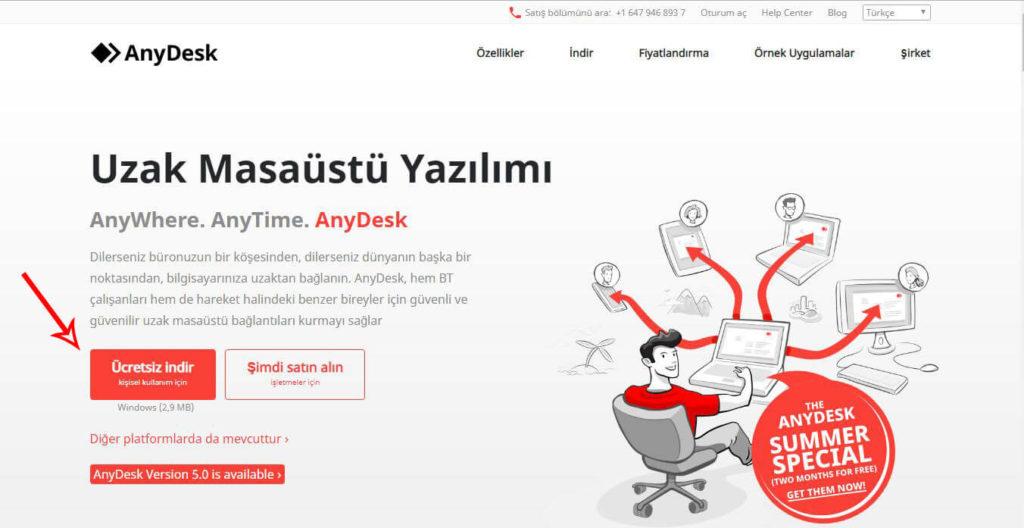 AnyDesk Uzak Bağlantı Programı
