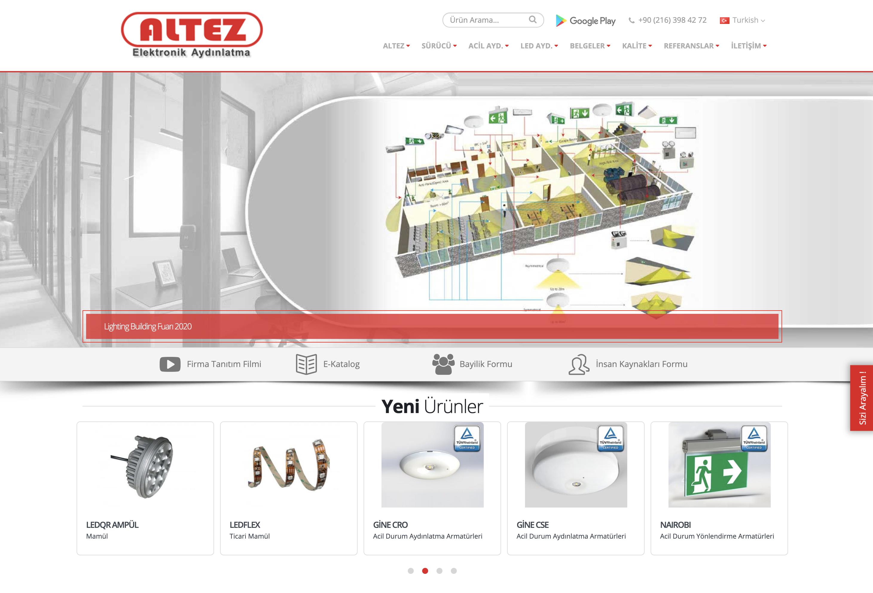 Altez Firması Yeni Web Sitesi Yayına Girmiştir.