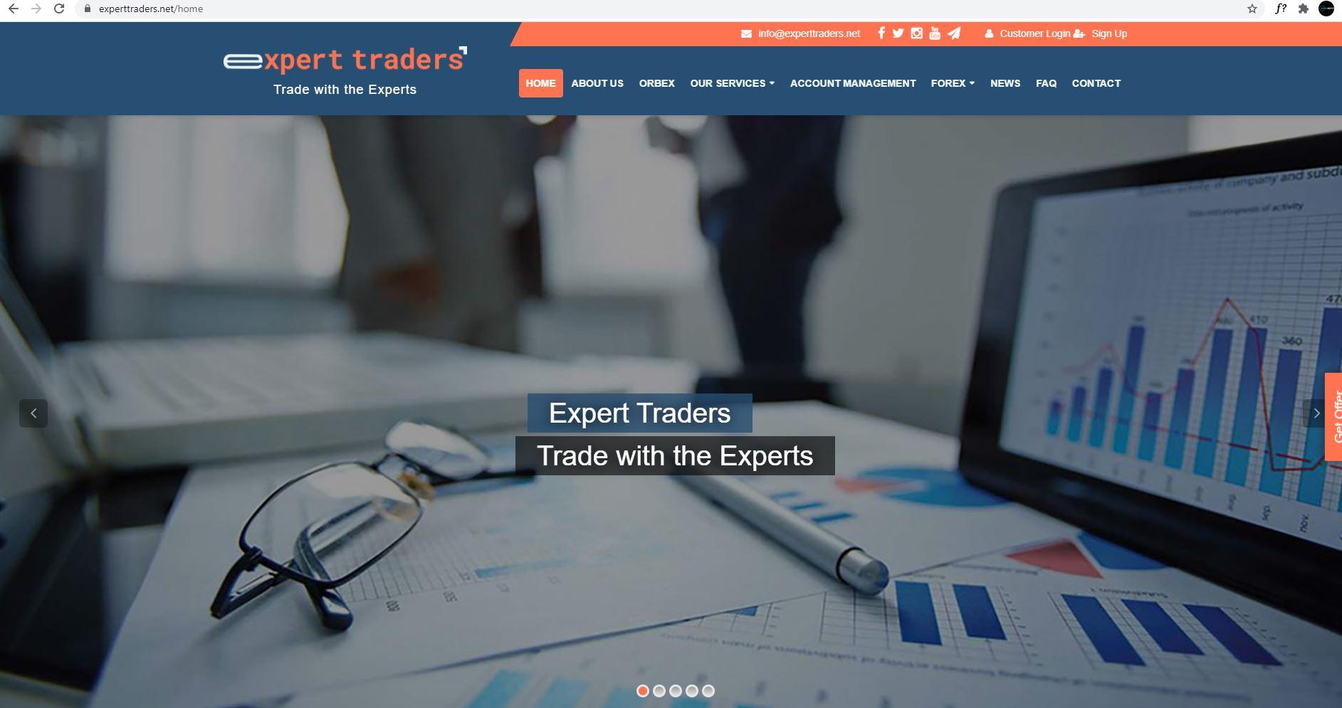 Expert Traders   Web Site Tasarımı