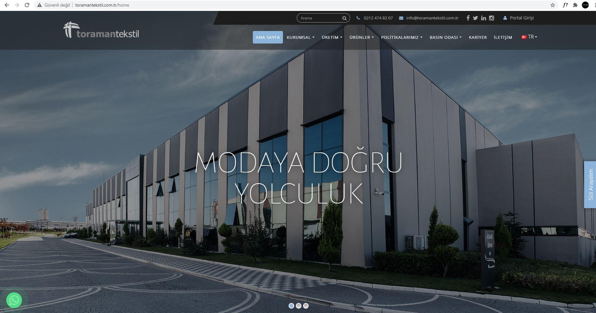 Web Site Tasarımı   Toraman Tekstil
