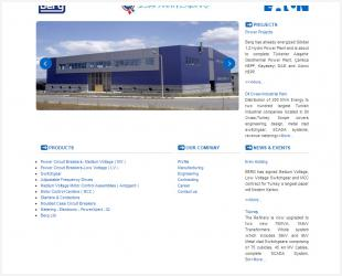 Berg Electric Corporate Website Completed