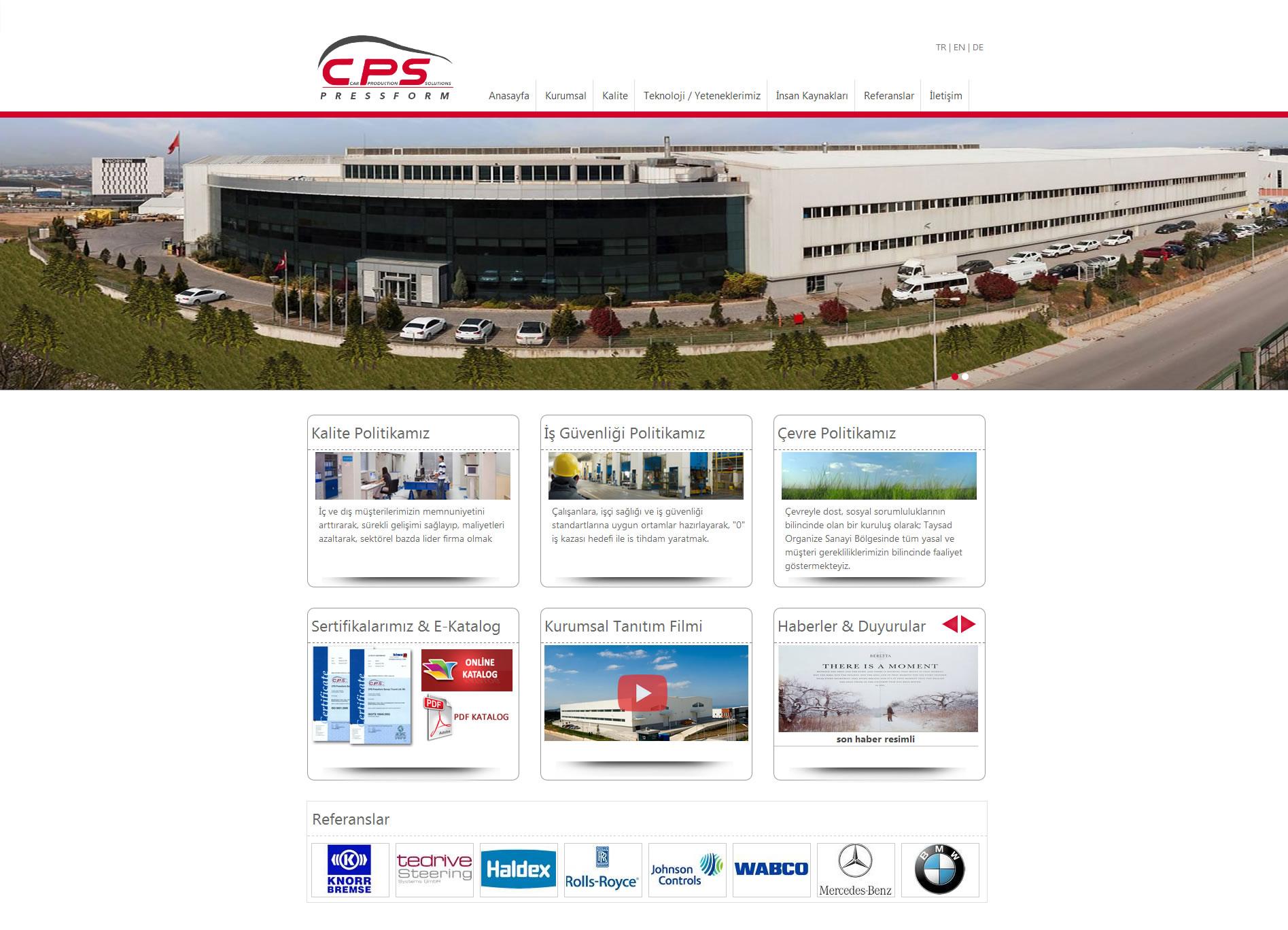 CPS Pressform Web Sitesi
