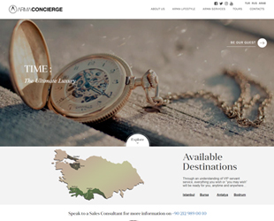 In the Tourism Sector, the Arma Concierge Company chose us as a professional design firm.